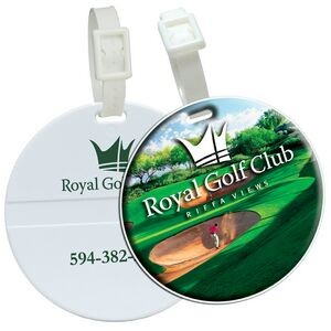 Domed Round Golf Bag Tag